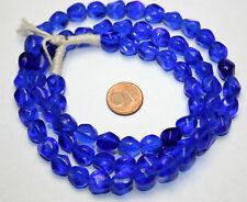 Strang blaue Nugget Glasperlen aus Böhmen