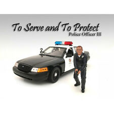 POLICE OFFICER III FIGURE FOR 1:24 SCALE MODELS BY AMERICAN DIORAMA 24033