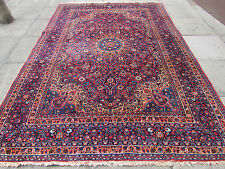 Antique Old Traditional Persian Rug Wool Red Oriental Hand Made Rug 311x218cm