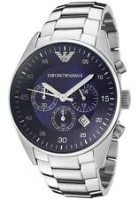 New Original Emporio Armani Men's Blue Chronograph Watch AR5860 RRP £299.99