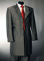 MJ-84S MENS TWO PIECE SILVER MOHAIR PRINCE EDWARD SUIT FORMAL/WEDDING/MORNING