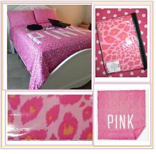Victoria's Secret Pink LEOPARD DUVET DORM REVERSIBLE + 1 PILLOW CASE TWIN XL