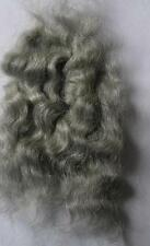 MOHAIR DOLL HAIR SPECIAL EFFECTS BLYTHE  PUPPET TROLL  - LIGHT GREY 10GRM