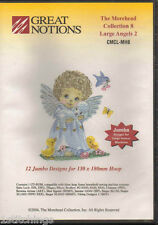 The Morehead Collection 8 Large Angels 2 Machine Embroidery Designs CD OESD NEW