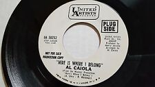 "AL CAIOLA Here is Where I Belong / The Sound of Music RARE PROMO 7"" Jazz Lounge"