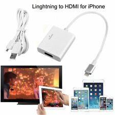 Lightning Compatible Adapter to HDMI Cable AV for iPhone iPad Screen Mirroring