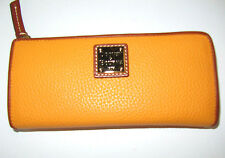 New Dooney & Bourke Melon Zip Around Wristlet Leather Cell Phone Wallet NWT $118