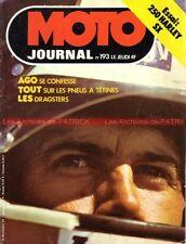 MOTO JOURNAL  193 YAMAHA DT 250 Harley Davidson 250 SX Giacomo AGOSTINI 1974