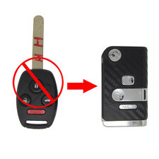 3+1 Buttons Modified Flip Remote Key Shell for Honda Accord Civic Pilot 3D