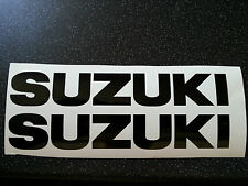 SUZUKI TANK BIKE 100MM X 16MM DECAL STICKERS WITHOUT  LOGO FREE MANY COLOURS