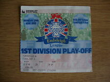 1995 Bolton / Lectura - 1 ª División Play Off final @ Wembley-Usa Billete