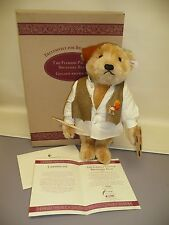 "STEIFF TEDDY BEAR,""FLEMISH PAINTER BELGUIM"",GOLDEN BROWN, 42cm, #999/1847 w/Box"