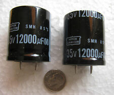 4 pcs Nippon 12000uF 35V Low Impedance 35x25 snap in Electrolytic Capacitors