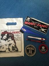 Manic Panic hair dye comb / brush sticker 2 embroidered patches 2 pens