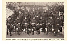 SIEGEL-COOPER MILITARY HOSPITAL #3, ADMINISTRATION STAFF, 6TH AVE & 19TH, NYC