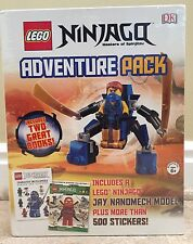 NEW Lego Ninjago LOT Pac Jay Nanomech Model & Books & 500  Sticker Collection