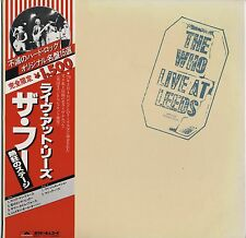 The Who - Live At Leeds JAPAN LP with OBI and LYRIC SHEET