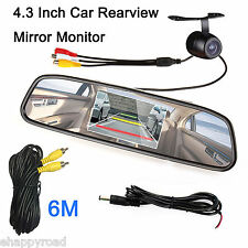 "Car Auto Reverse Rearview Mirror 4.3"" Color Digital LCD Display Monitor + Camera"