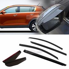 Smoke Window Vent Visor + Side Mirror Rain Guard 6P For KIA 2011-2016 Sportage R