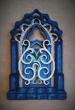 Frozen inspired handpainted Glitter 'Frozen Castle Gate' Fairy door - Great Gift