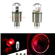 2Pcs Motorcycle Red Wheel Tyre Tire Air Valve Stem Cap LED Light Lamp For Yamaha