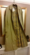 Burberry xl heritage authentique camel gabardine trench nova check intérieur manteau