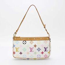 Auth Louis Vuitton Pochette Accessoires Monogram Multicolor Pouch Bag 10098089