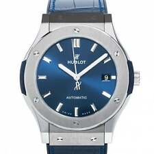 Hublot Classic Fusion Blue Titanium 38mm 565.NX.7170.LR-Unworn with Box & Papers
