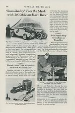 1938 Magazine Article Mercedes Streamlined Auto Racer London Race Streamliner