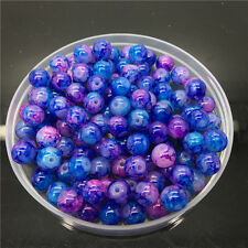4mm 100Pcs Double Color Glass Pearl Round Spacer Loose Beads Jewelry Making Az58