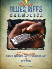 Classic Blues Riffs for Harmonica 25 Famous Guitar & Bass Parts Adapte 000821044