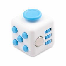 Blue IN STOCK Fidget Anxiety Stress Relief Better Focus Toys Cube Holiday Gift
