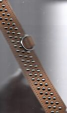AMISH MADE 2 INCH WIDE DOG COLLAR WITH 3  ROWS OF SILVER SPOTS . COW LEATHER.