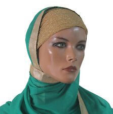 wholesale lot of 12 Hijab underscarf caps Shimmer Shinny Band New Fashion