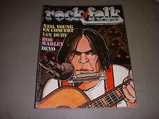 ROCK & FOLK 144 01.1979 NEIL YOUNG IAN DURY BOB MARLEY DEVO RICK WRIGHT HAMMILL