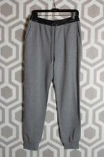 NWT T by Alexander Wang Sweatpants Leather Waist Medium M $250 Grey Black