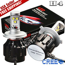 2x H4 9003 HB2 Cree LED Headlight Kit 8000LM HID 6000K White Light Bulbs DC 12V