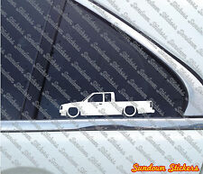 2x Lowered car outline stickers - for Mazda B2000 B-series UF; 1985–1998 pickup