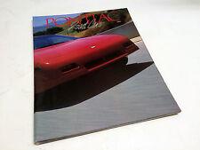 1988 Pontiac Le Mans Fiero Grand Am Bonneville 6000 Sunbird Firebird Brochure