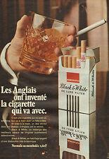 Publicité Advertising 1971  Cigarettes Black & White  MARCOVITCH