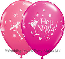 10 Pink Champagne Cocktail Glass Hen Night Balloons Helium/Air Party Decorations