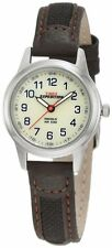 "Timex T41181, Women's ""Expedition"" Brown Leather Watch, Indiglo, T411819J"