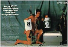 Publicité Advertising 1985 (2 pages) Mini copieur Xerox 1025 par rank Xerox