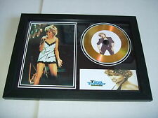 TINA TURNER    SIGNED FRAMED GOLD CD  DISC   544812