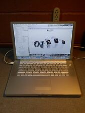 "Apple Powerbook G4 Aluminum A1106 15"" 1.67 Ghz 1.0GB 80GB SuperDrive OS 10 5 8"
