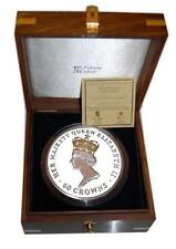 Ascension Islands 2012 60 Crowns Queen Elizabeth II 60 oz Silver Coin 60 Diamond