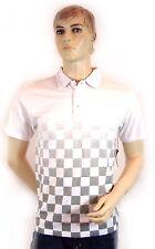 """Vans Polo Shirt """"Check Fade Polo"""" gr. S  weiss white checkerboard NEU new"""