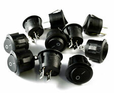 ON/OFF ROUND ROCKER SWITCH 24 VOLT PACK OF 10