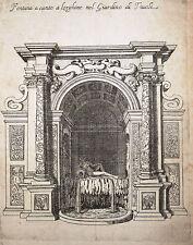 Estampe Etching Kupferstiche Architecture Nuova racolta di fontane Roma Tivoli