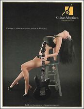 The G&L Rampage Guitar Adoptions 10th anniversary ad 8 x 11 advertisement